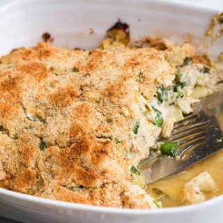 Spinach Artichoke Chicken Casserole.