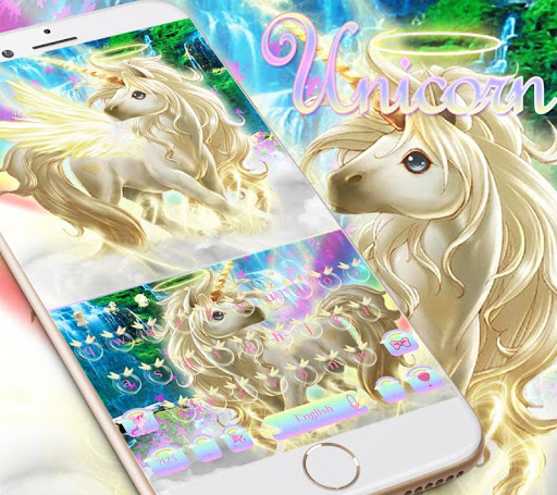 Rainbow unicorn Keyboard theme  screenshots 1