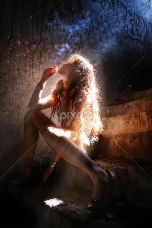 Rays of Window by Novra Ayamo - People Portraits of Women ( model, girl, hot, jakarta, hair, people )
