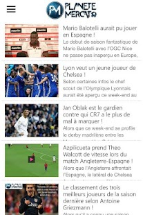 Planete Mercato : infos foot- screenshot thumbnail