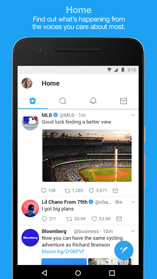Screenshots of Twitter for iPhone
