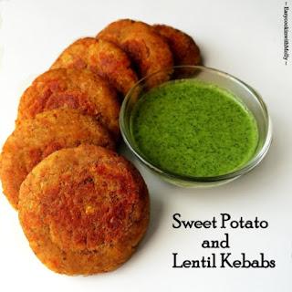 Sweet Potato and Lentil Kebabs