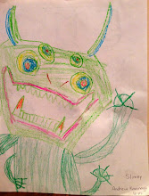 """Photo: """"Slimey"""" by Andrew Kavanagh, age 6"""