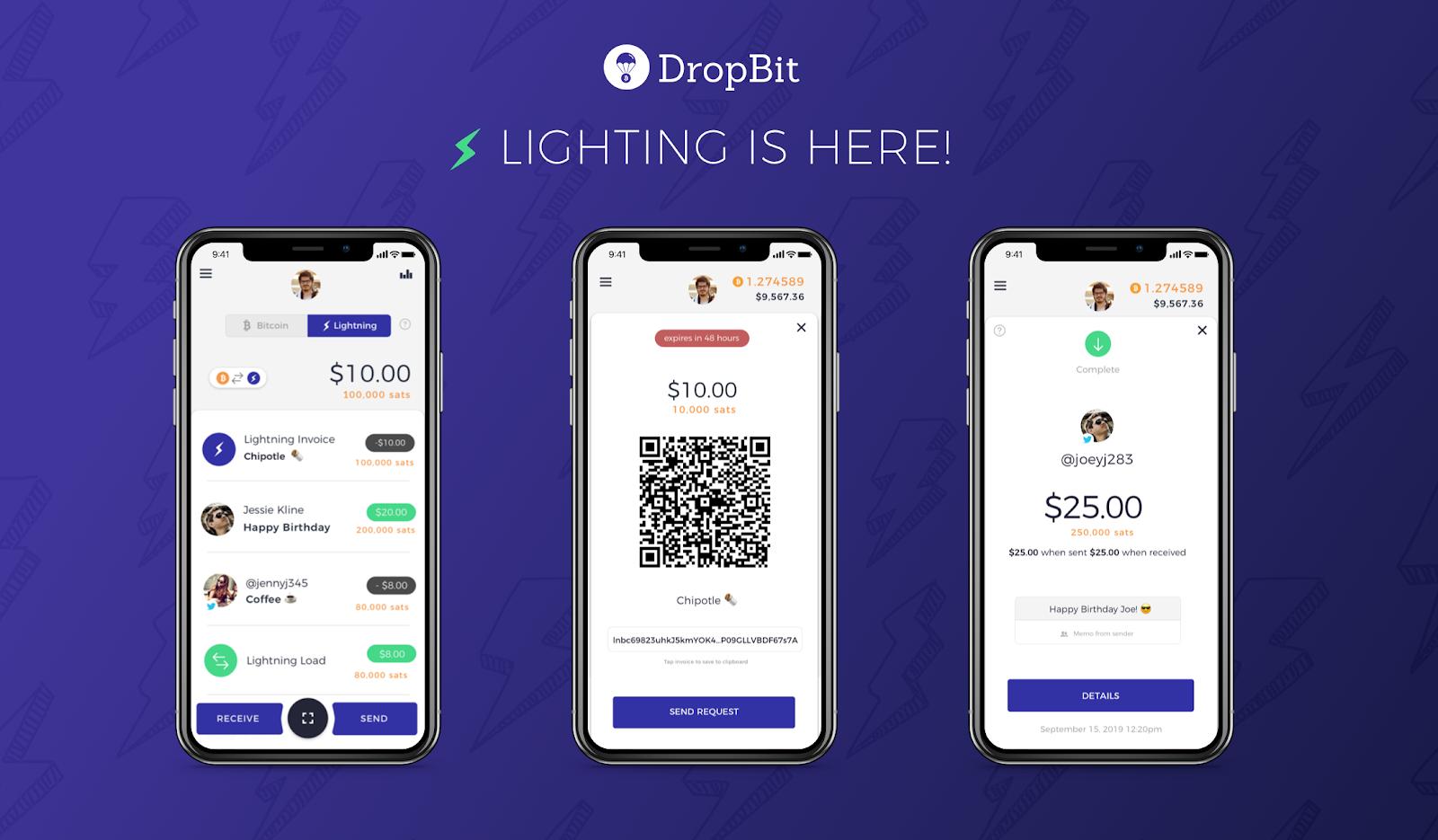 DropBit Adds Lightning Network Support