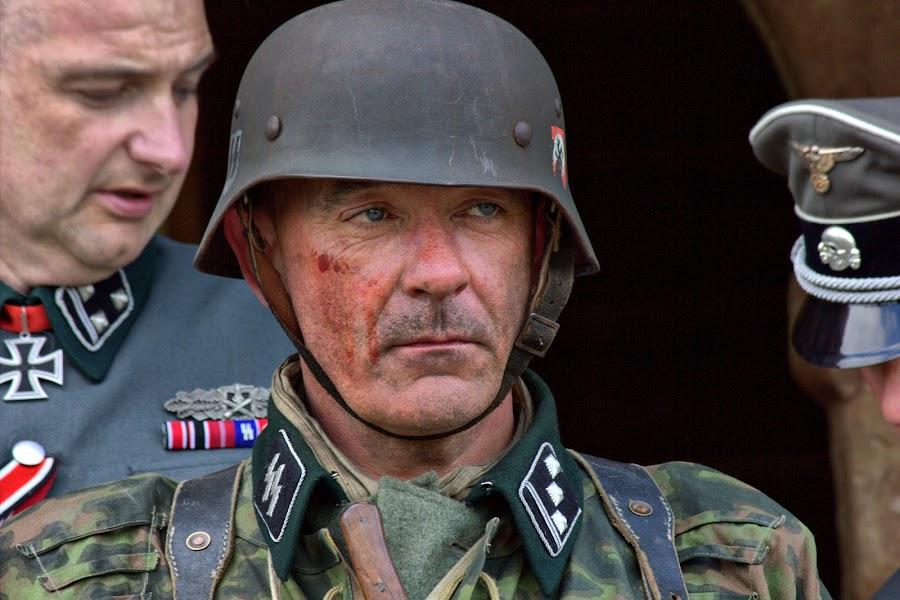 The German by Michael Topley - People Portraits of Men ( ww2, world war, model, uk, 1940's, male, german, tutbury, soldier, england, nazi, costume, castle, man, britain )