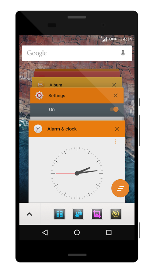 Theme M Orange- screenshot