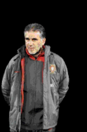 Portuguese head coach Carlos Queiroz, during an international friendly test game between Portugal and South Africa on the sidelines of the 2010 World Cup qualification, at the Stade Olympique in Lausanne, Switzerland, Tuesday, March 31, 2009. (AP Photo/Keystone/Laurent Gillieron)