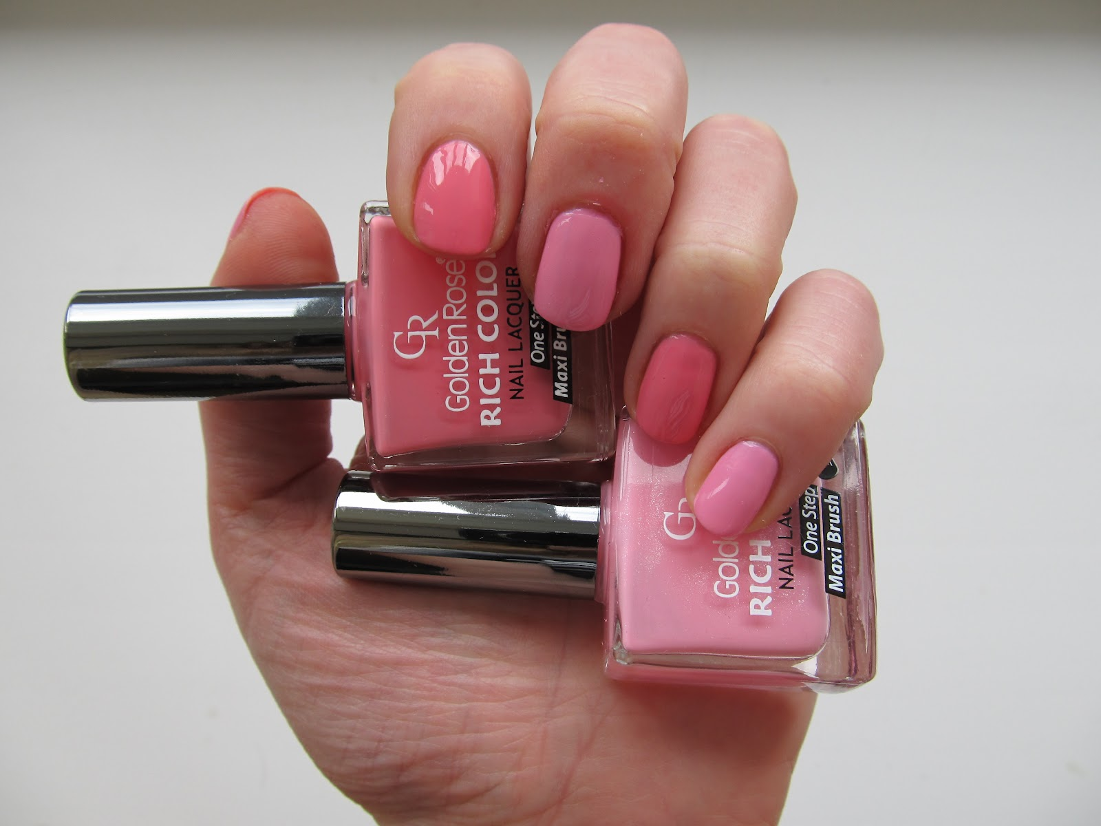 Рожеві відтінкі лаків Річ Колор від Голден Роуз