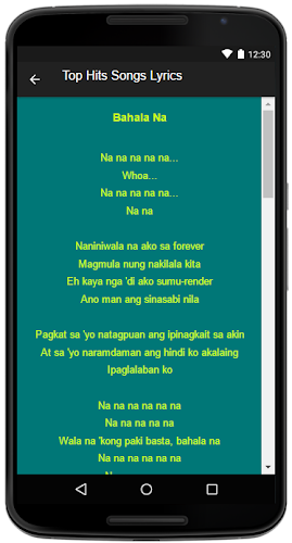 Download Nadine Lustre Song&Lyrics APK latest version 1 0