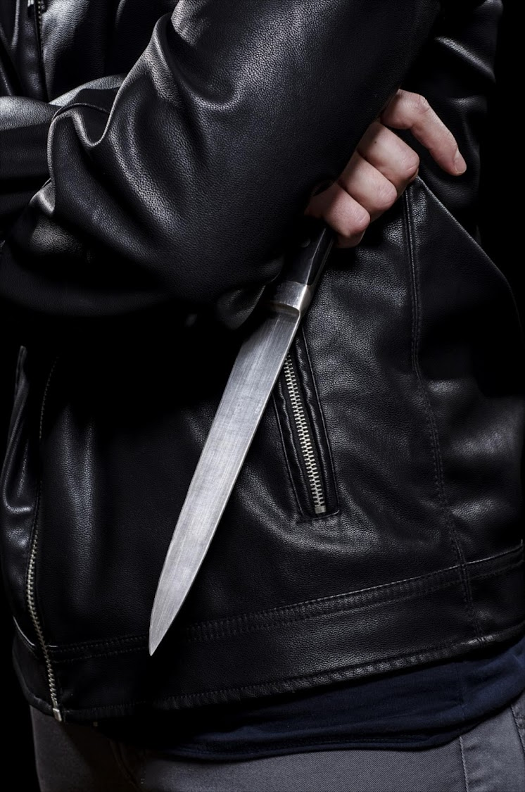 Knife crime - Stock image