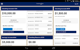 Screenshot of CBT Business Mobile Banking