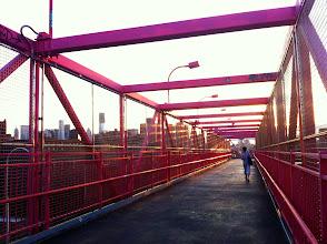 Photo: Walkway towards Manhattan