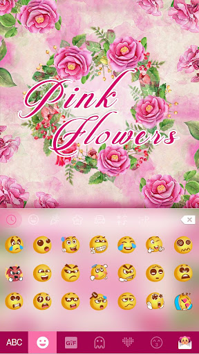 Download Pink Flower Emoji Kikakeyboard Google Play Softwares