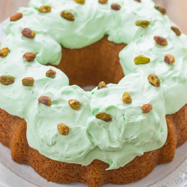 Pistachio Double Pudding Cake Recipe