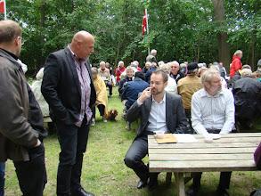 Photo: Byrådsmedlem Steen B. Andersen,  borgmester Jacob Bundsgaard og fællesrådsformand Jørgen Bak