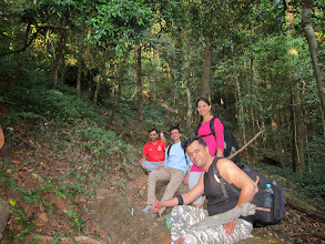 Photo: Rest time while climbing in Pushpagiri forest of Kodagu