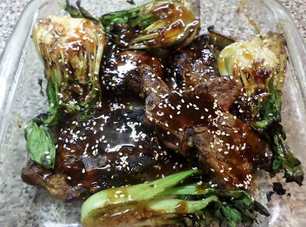Grilled Lamb Chops W/ Teriyaki- Sesame Sauce Recipe