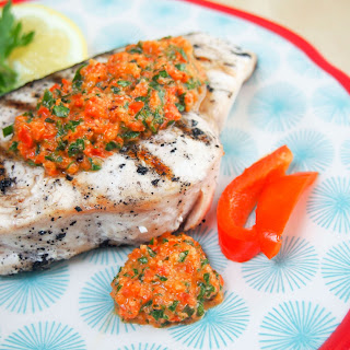 Grilled Red Pepper Herb Sauce (for Fish And Other Dishes).