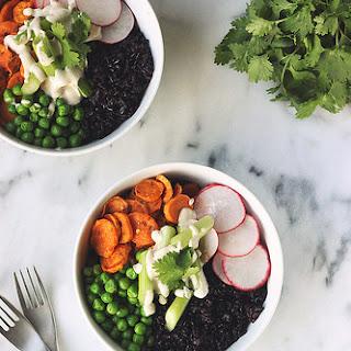 Forbidden Rice Spring Veggie Bowls – Gluten-free + Vegan