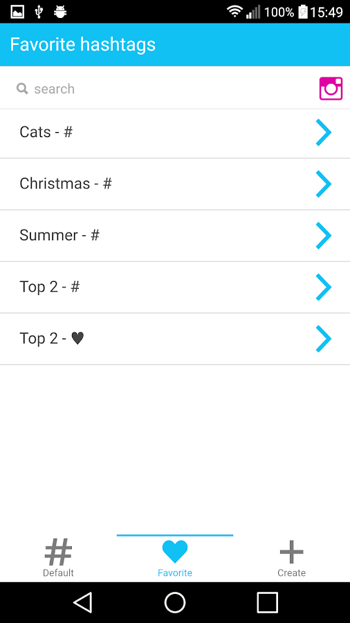 Favtags Hashtags For Instagram Android Apps On Google Play