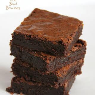 One Bowl Brownies.