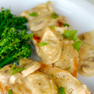 Chicken in Creamy Lemon, Artichoke and Mushroom Sauce