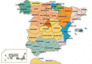 Photo: Mapa de las provincias