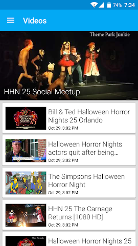 android Theme Park Junkie Official Screenshot 2