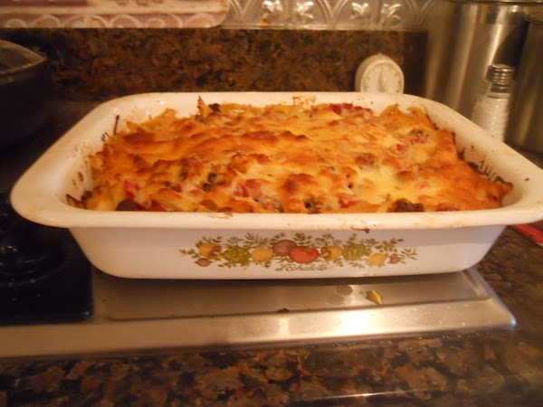 Bake 350 degrees for 20 or longer.  Make sure cheese has melted and...