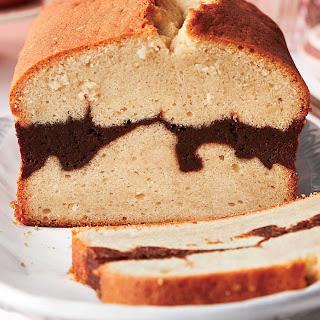 Vanilla Bean-Brownie Ripple Pound Cake.