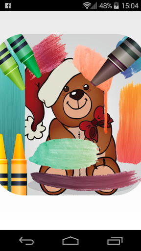 coloring christmas cartoon