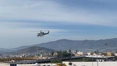 Helicóptero sobrevuela Berja.