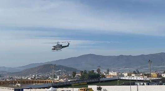 Medios aéreos para Berja ante el avance imparable de las llamas en Castala