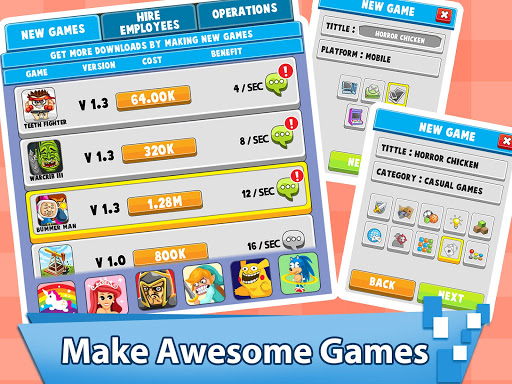 Video Game Tycoon - Idle Clicker & Tap Inc Game android2mod screenshots 3