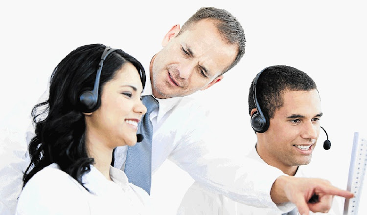 Workers at a call centre. Picture: THINKSTOCK