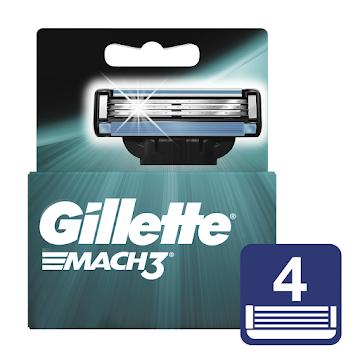 Repuestos Para Afeitar Gillette Mach3 4 Unidades