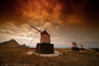 """Photo: Windmills To The Flames  Be Different Its so easy to fall into the """"norm"""" of photography, we are surrounded by so many photographers that have their own way of doing things, when it cones to landscape photography its a harder thing to achieve. What happens is one persons work blends into another's and they become yet another """"pretty picture"""". I know after falling into the trap too many times, my gallery here will attest to that.  So how do you break out of this and makes the images your own? Stop being afraid. Its only when we dare to play about with the settings on the camera, the post editing tools we have and more, the fun we have when doing so do we break free from the constraints of following the pack. Yes they tell me photography has """"rules"""" but I have never seen a rule that has not been broken yet, break a few and see where it takes you.  Its a liberating way to move yourself forward, whats more, its fun ;)"""