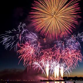 Van Fireworks by Nguyen Kien - City,  Street & Park  City Parks ( fireworks, vancouver )