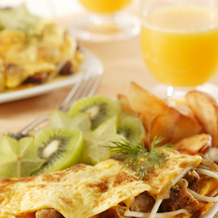 Sausage Sprout Omelet Recipe