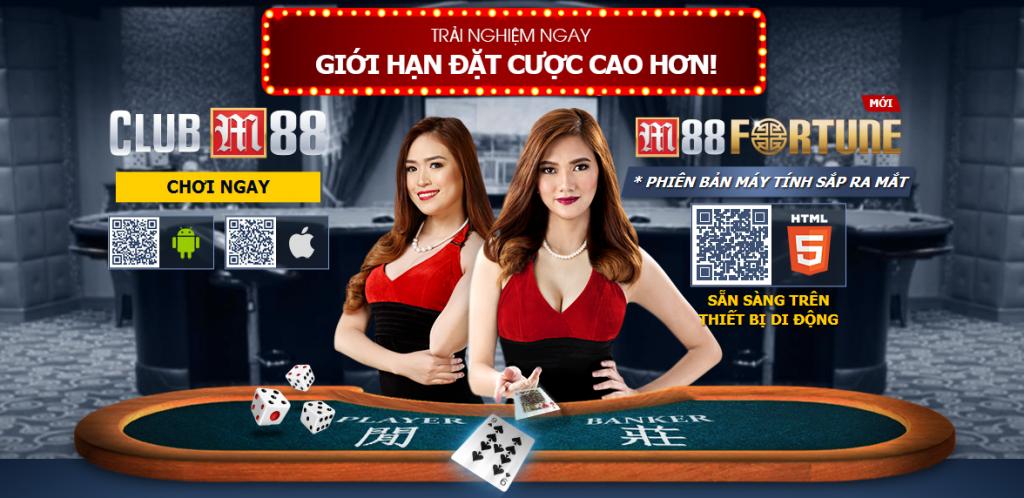 Sảnh casino M88 chuyên nghiệp