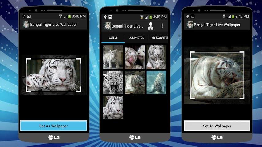android Tiger Live Wallpaper (BANGAL) Screenshot 3