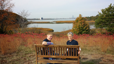 Photo: After working we walked back through the beautiful fall weather