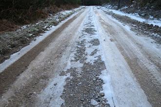 Photo: Ah, quelques plaques de glace ! On nous avait prévenus.