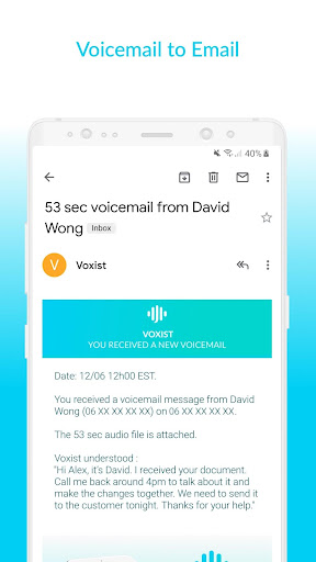 Voxist: Visual voicemail you can read 1.30.6 screenshots 6