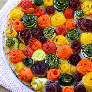 Zucchini And Carrots Roses Tart
