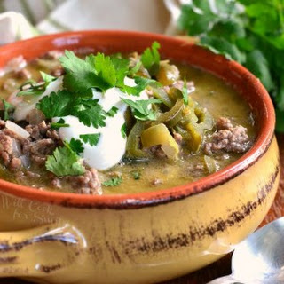 Beef and Poblano Enchilada Soup