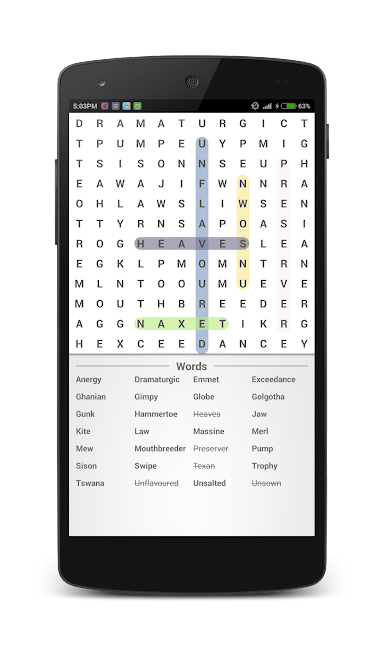 #7. Word Search (Android)