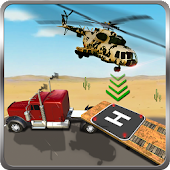 Helicopter Emergency Truck Landing Game