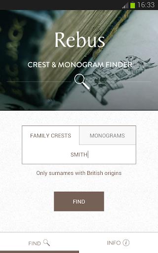 Rebus Crest Monogram Finder