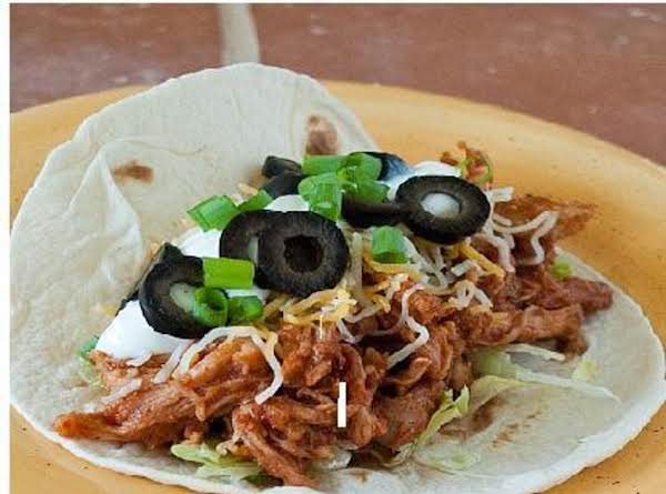 These Tacos Make A Delious Meal On Hot Days. Add Your Favorite Toppings:  Sour Cream, Guacamole, Cheese, Lettuce, Tomatoes, Jalapenos, The Choice Is All Yours. Or Just Eat Them Plain Rolled Up In A Warm Tortillas.